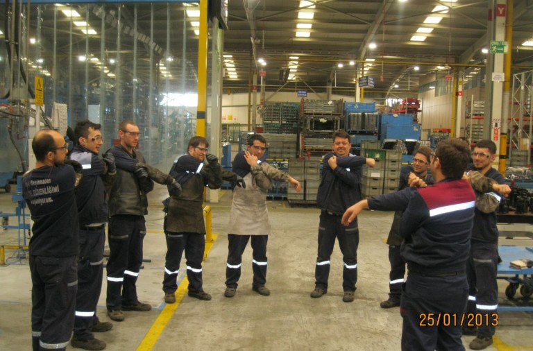 Pic. Morning Stretch exercise is a major safety prevention activity (2)