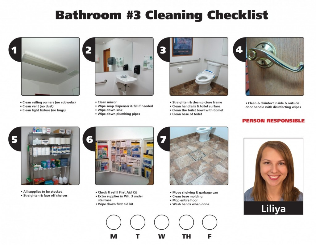 Do it in the bathroom the lmj for Housekeeping bathroom cleaning procedure
